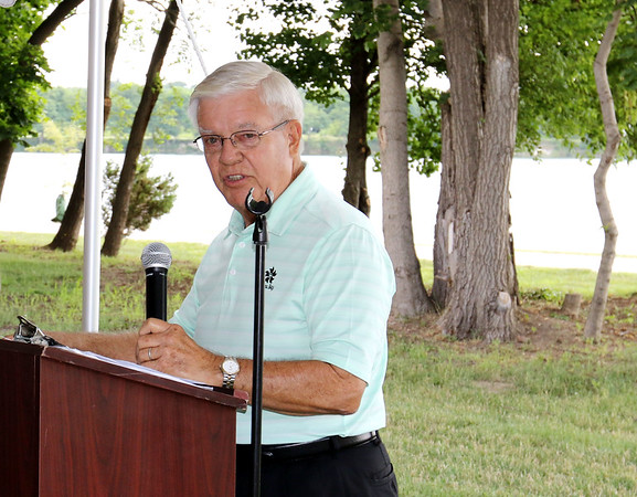 SHEILA SELMAN | THE GOSHEN NEWS<br /> John Fidler speaks Saturday morning about the beginning of Fidler Inc., with his dad Lewis' misstarts at business before finding success with the gravel and concrete business.