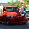 HALEY WARD | THE GOSHEN NEWS<br /> A classic truck drives down Main Street during First Fridays Cruisin' Reunion on Friday.