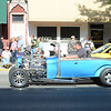 HALEY WARD | THE GOSHEN NEWS<br /> A hot rod drives down Main Street during First Fridays Cruisin' Reunion on Friday.