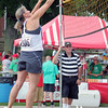 Roger Schneider | The Goshen News<br /> LIBBY MORRICAL returns a ball during Sandblast tournament action at First Fridays.