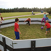 JOHN KLINE | THE GOSHEN NEWS<br /> Kid keep busy with a game of GaGa Ball during Goshen First United Methodist Church's annual Big Bash event Sunday afternoon.