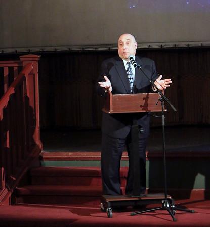 LYNNE ZEHR  THE GOSHEN NEWS<br /> Jeffrey Marks speaks about the history of the Goshen Theater.
