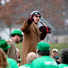 JULIE CROTHERS BEER | THE GOSHEN NEWS<br /> Peter Norton, executive director of United Cancer Services of Elkhart County, greets participants during the 12th annual Leprechaun Leap at Simonton Lake in Elkhart Saturday, March 18. The annual event benefits United Cancer Services of Elkhart County.