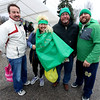 JULIE CROTHERS BEER | THE GOSHEN NEWS<br /> From left, Steve Lantz, of Columbia City, and Kim Lantz, Marty Lantz and Russelll Lantz, all of Millersburg, pose for a photo during the 12th annual Leprechaun Leap at Simonton Lake in Elkhart Saturday, March 18. The annual event benefits United Cancer Services of Elkhart County.