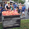 JULIE CROTHERS BEER | THE GOSHEN NEWS<br /> Apples were available for purchase for 50 cents throughout this weekend's Nappanee Apple Festival festivities.