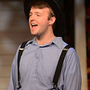 HALEY WARD | THE GOSHEN NEWS<br /> Alec Brown, who plays Peter, performs during rehersals for Plain and Fancy on Tuesday at the Round Barn Theatre.