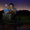 HALEY WARD | THE GOSHEN NEWS<br /> Kaitlyn Casanova as Katie and Nick Wheeler as Papa Yoder perform during rehersals for Plain and Fancy on Tuesday at the Round Barn Theatre.