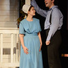 "HALEY WARD | THE GOSHEN NEWS<br /> Alec Brown, who plays Peter, and Kaitlyn Casanova, who plays Katie, sing ""Young and Foolish (Reprise)"" during rehersals for Plain and Fancy on Tuesday at the Round Barn Theatre."