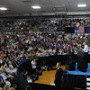 HALEY WARD | THE GOSHEN NEWS <br /> President Barack Obama speaks to a crowd at Concord High School in Dunlap, Indiana, on Wednesday, June 1, 2016.