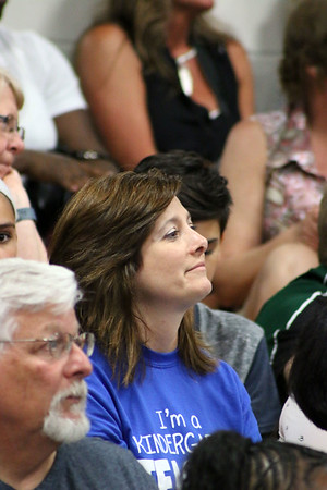 LYNNE ZEHR | THE GOSHEN NEWS<br /> Amy Fisher listens to President Obama's speech.