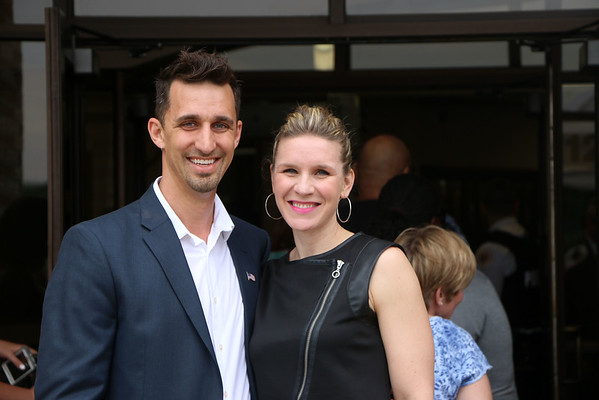LYNNE ZEHR   THE GOSHEN NEWS<br /> Goshen Mayor Jeremy Stutsman and wife Maija arrive at Concord High School.