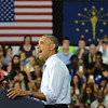 HALEY WARD | THE GOSHEN NEWS<br /> President Barack Obama speaks at Concord High School on Wednesday.