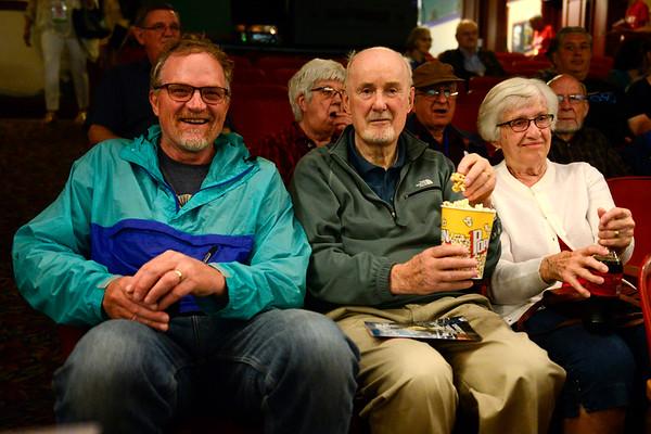 BEN MIKESELL | THE GOSHEN NEWS<br /> David Ostergren, left, Goshen, sits with Glen and Marilyn Miller, Goshen.