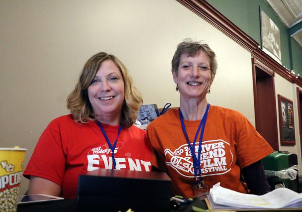 GEOFF LESAR | THE GOSHEN NEWS<br /> <br /> Shannon Smith, left, and Beth Bontrager, both of Goshen