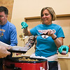 LEANDRA BEABOUT | THE GOSHEN NEWS<br /> Scott Salisbury of Goshen, Jessica Elliott of Middlebury and Loretta Reynolds of Goshen helped service Thanksgiving dinner at Goshen's First United Methodist Church.