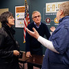 JULIE CROTHERS BEER | THE GOSHEN NEWS<br /> Goshen resident Connie Garber speaks with Goshen City Council representative Julia Gaustche and Rep. Wes Culver, R-Goshen, the Third House meeting Saturday, March 4 at the Goshen Chamber of Commerce.