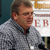 JULIE CROTHERS BEER | THE GOSHEN NEWS<br /> State Sen. Blake Doriot, R-New Paris, discusses bills he is supporting in the 2017 Legislative session during a Third House meeting Saturday, Jan. 21 at the Goshen Chamber of Commerce.
