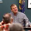 JULIE CROTHERS BEER | THE GOSHEN NEWS<br /> State Sen. Blake Doriot, R-New Paris, responds to a question asked by a member of the audience during a Third House meeting Saturday, Jan. 21 at the Goshen Chamber of Commerce.