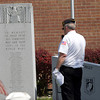 Jim Wilson of American Legion Post 154 speaks during the Nappanee Memorial Day service.