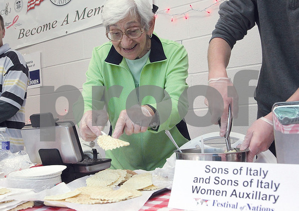 The annual Festival of Nations was recently held at the Geneva Middle and High School. The event provided the opportunity to learn about all different kinds of cultres through food education, dance, music and more. Marie Bruno prepared homemade Italian cookies.