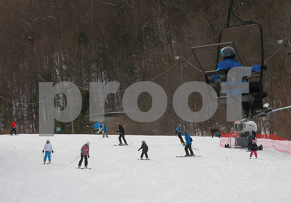 Spencer Tulis/Finger Lakes Times With winter recess in progress, cold temperatures a some snow on the ground, Bristol Mountain was a great place to be Saturday.
