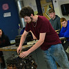 "KRISTOPHER RADDER — BRATTLEBORO REFORMER<br /> Jesse Lavasseur talks about taking apart an engine during his ""Bumper to Bumper Repair"" ELO presentation at Hinsdale Middle High School's annual ELO Exhibition Day on Tuesday, May 21, 2019."