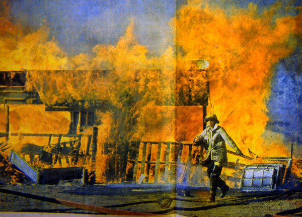 "A routine training exercise in 1982 turned into a fatal fire training accident.<br />  For more photos of the fatal training accident go to  <a href=""http://www.dailycamera.com"">http://www.dailycamera.com</a><br /> DAILY CAMERA FILE PHOTOS"