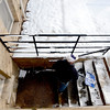"George Wallack of CU's Facilities Management, removes snow from the geology Building at CU.<br /> For a video and photo gallery of the snow, go to  <a href=""http://www.dailycamera.com"">http://www.dailycamera.com</a>.<br />  Cliff Grassmick  / February 21, 2013"