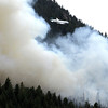0626Fire4.jpg Heavy tanker makes pass on Bison Dr fire in Boulder, 2012. CAMERA/ MARK Leffingwell