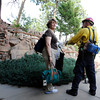 "Homeowner Glenda Holmes talks with Rocky Mountain Rescue workers while evacuating their home during the Flagstaff wildfire on Tuesday, June 26, in Boulder. For a video of the fire go to  <a href=""http://www.dailycamera.com"">http://www.dailycamera.com</a><br /> Jeremy Papasso/ Camera"