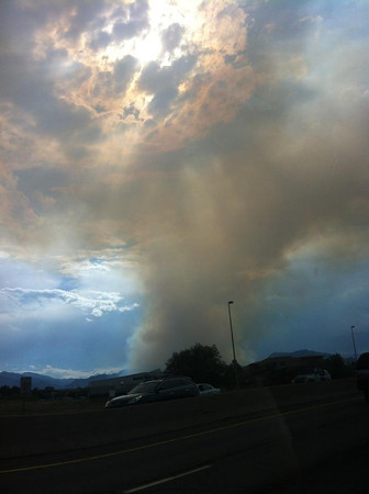 View of the Flagstaff Fire as seen from Superior on Tuesday June 26.<br /> <br /> Photo courtesy Shay Astephen
