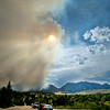 Smoke fills the sky from the Flagstaff fire in Boulder, Colorado June 26, 2012.  DAILY CAMERA MARK LEFFINGWELL