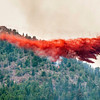 A slurry bomber works the Flagstaff Fire on Wednesday morning June 27, 2012<br /> PHOTO COURTESY Tony Johnson