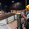 FLATIRONS.jpg Richard Ladasky of works on placing railing on the balcony of the main chapel in Flatirons Community Church in Lafayette on Thursday March 17, 2011. <br /> Photo by Paul Aiken