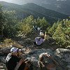 People gather along Flagstaff Mountain to view the fourmilecanyon fire Monday afternoon.  <br /> <br /> <br /> Photo by Patrick Kelley / For The Camera