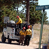 """Fire crews head back to the fire lines from Sugarloaf Rd. and Mountain Pines on September 10, 2010.<br /> For  videos  and photos relating to the fire,  go to  <a href=""""http://www.dailycamera.com"""">http://www.dailycamera.com</a>.<br /> Cliff Grassmick / September 10, 2010"""