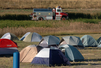 Numerous tents still remain at the Boulder Reservoir. Fire fighting staff was busy at the Fourmile Mile Fire Incident center on Saturday. For  videos  and photos relating to the fire,  go to www.dailycamera.com. Cliff Grassmick / September 11, 2010