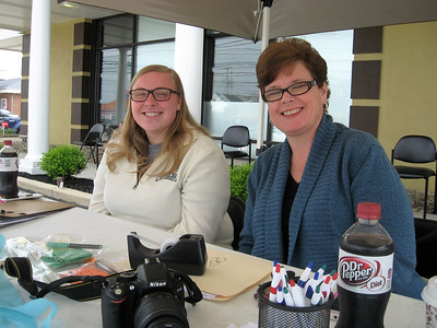 BOB SANDRICK / GAZETTE Trish Martin, right, a business assistant at Dental Care of Solon, and her daughter Elizabeth Martin, registered patients for Free Dentistry Day on Saturday at Family Dental Care of Medina.