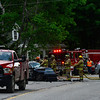 KRISTOPHER RADDER - BRATTLEBORO REFORMER <br /> Emergency crews responded to a vehicle crash on Route 30, near Grimes Hill Road, in Newfane, that happened around 4:30 p.m. on Friday, June 8, 2018.  That section of Route 30 is closed while the Vermont State Police recreate the crash scene as they investigate the cause. One person was killed in the crash and another person was flown to Dartmouth-Hitchcock Hospital, in Lebanon, N.H.