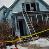 KRISTOPHER RADDER - BRATTLEBORO REFORMER <br /> Members of the New Hampshire State Fire Investigators look into the cause of a fatal fire at 8 East Street, in North Walpole, N.H., on Monday, Feb. 5, 2018. Crews responded to the two-alarm fire around 3:17 a.m.