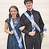 FROST FEST ROYALTY<br /> submitted photo<br /> PRINCE AND PRINCESS: Katie Hasty and Dallin Law were chosen as this year's Frost Fest Prince and Princess of the twelve Lebanon High School students on the Frost Fest court. The crowning took place on Friday at halftime of the varsity basketball game. All court members were given wrapped flowers. They unwrapped the flowers, and the two students holding flowers with blue petals were crowned prince and princess.