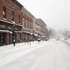 Main St. Lee nearly deserted during the storm.  Richard Lindsay — The Berkshire Eagle