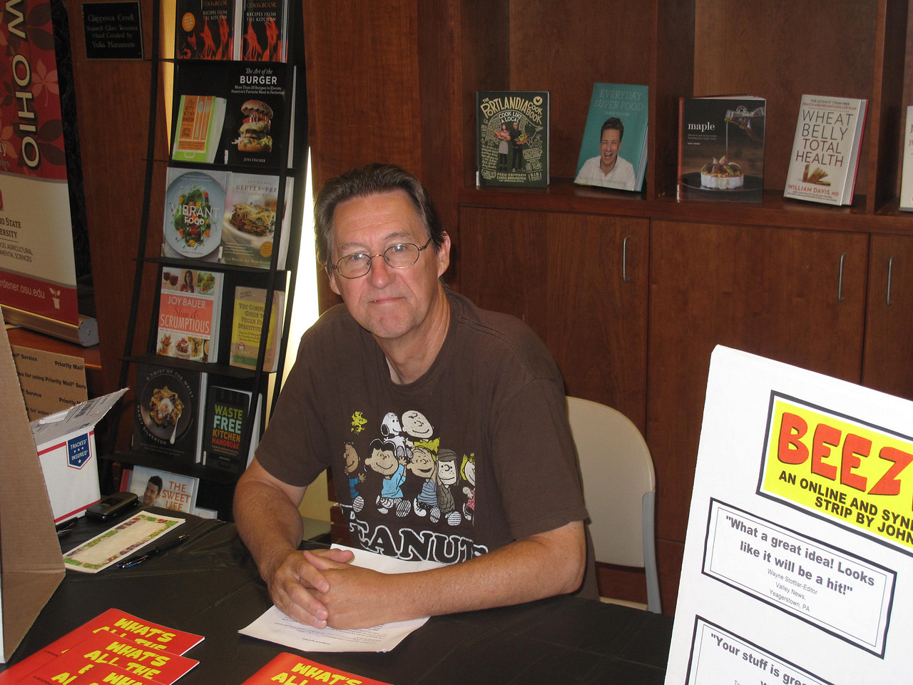 BOB FINNAN / GAZETTE John Martin, a Medina resident and creator of the Beezwax comic strip, has branched out to 19 publications around the country.