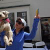 "ELODIE REED - FOR THE BENNINGTON BANNER Dara Lamb and Sophie the dog demonstrate the ""ballerina"" trick that won them the ""cutest trick"" talent show prize during Fidofest at Stratton Mountain Resort Saturday."