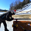 KRISTOPHER RADDER - BRATTLEBORO REFORMER<br /> Crews put on the final touches on the Harris Hill Ski Jump in Brattleboro, Vt., on Friday, Feb. 17, 2017.