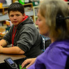 KRISTOPHER RADDER — BRATTLEBORO REFORMER<br /> Conner Bemis, a sixth-grader at Westminster Elementary School, listens to instruction from Cynthia Payne-Meyer on May 30, 2018.