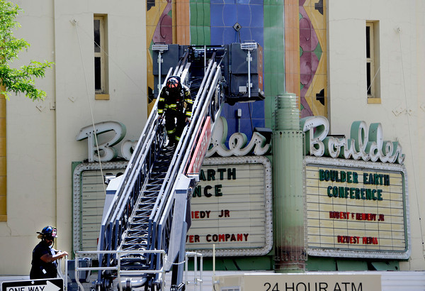 Boulder Theater Marquee Fire