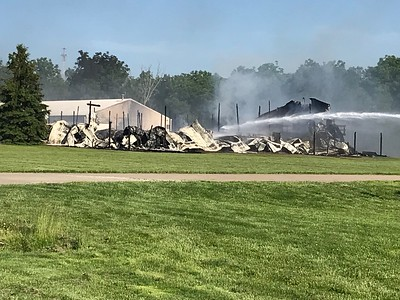 The building at Hy-Production that caught on fire was considered to be a total loss. The cause of the fire is currently under investigation. ALYSSA ALFANO / GAZETTE