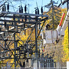KRISTOPHER RADDER — BRATTLEBORO REFORMER<br /> Brattleboro Fire Department responded to a fire at a power substation on Putney Road that cut off power to roughly 8000 customers on Friday, Nov. 1, 2019.