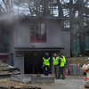 KRISTOPHER RADDER - BRATTLEBORO REFORMER<br /> The Brattleboro Fire Department responded to a second-alarm fire at 44 Fuller Dr, in Brattleboro, around 11:21 a.m. on Tuesday, April 10, 2018. The fire started in the basement.
